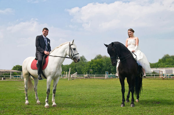 Wedding on Horseback